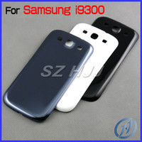 Wholesale S3 Battery Door Cover - For Samsung Galaxy S3 I9300 OEM Back Chassis Housing Bezel For GT-I9300 Battery Door Cover Free Shipping by DHL EMS