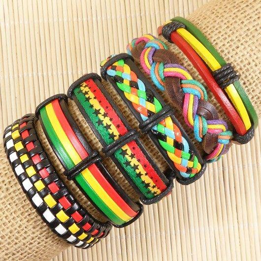 Fashion Men Leather Bracelets Leather Rope Weave Bracelet Classic Wax Line Adjustable Hand Bracelet Male Jewelry D24