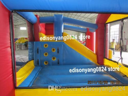 ED2014 NEW commercial inflatable bouncer combo jumping castle with slide