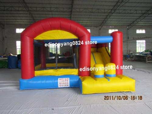 (ED)2014 NEW commercial inflatable bouncer combo jumping castle with slide