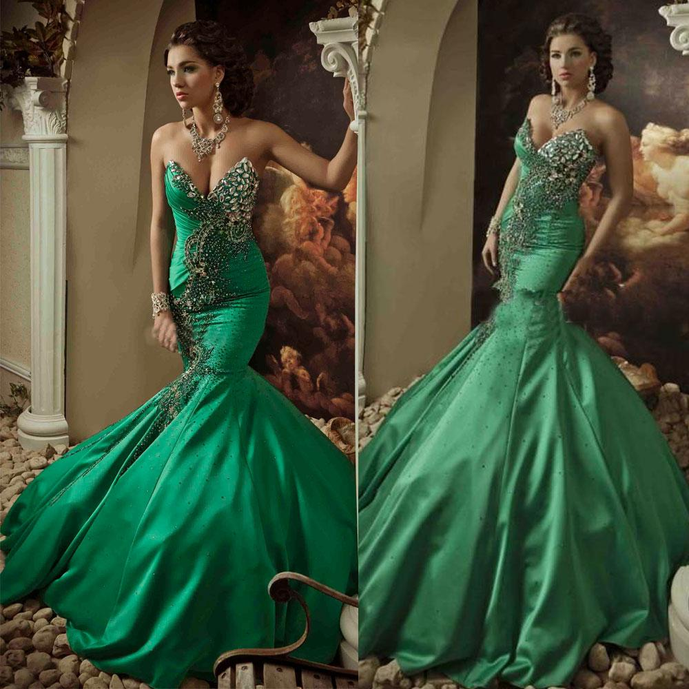 2014 green wedding gown mermaid sweetheart lace up back sweep train 2014 green wedding gown mermaid sweetheart lace up back sweep train vintage vestidos bridal dresses hot saudi arabia evening gown dhyz 03 princess wedding junglespirit Image collections