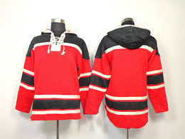 Wholesale Comfortable Cotton Hoodies - Newset Blackhawks Blank Red Ice Hockey Hoodies Brand Sports Jackets Athletic Wears Winter Hockey Wears Top Quality comfortable Mix Order