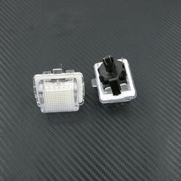 Wholesale Mercedes Plates - Free Shipping 2 PCS LED Light License Plate Lamp White Fit W204 W212 W216 W221