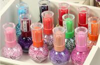 Wholesale Sweet Colors Nails - Sweet Glitter Shiny 27 Colors Nail Polish Lacquer Nails Enamel Candy Color Polish Nail Art Decoration DIIY Nails 15ml Nail Lacquer 36pcs lot