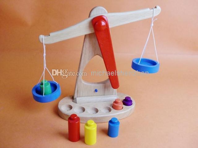 Bébé balance en bois balance numérique balance puzzle jouet en laine 1 - 3 ans / jouet éducatif