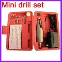 Wholesale Electric Micro Drill - NEW Mini drill set Mini Drill Grinder Kit micro-drill Electric grinding suit, Free Shipping