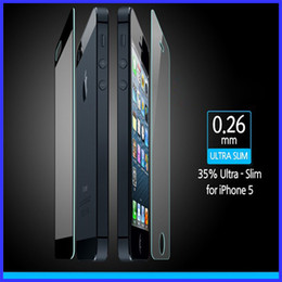 Wholesale Iphone 4s Full Package - 0.26mm For iPhone 4 4G 4S 5 5G 5C 5S High Quality Shatterproof Toughened Tempered Glass Screen Protector with Retail Package