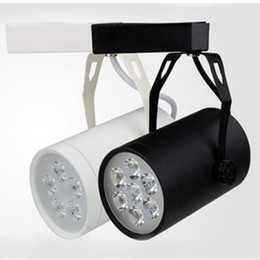 Wholesale Led Ceiling Track - New Led Track Rail Light 5W 7W Black Shell White Shell Projection Lamp Led Ceiling Light Led Spotlight Wall Lamp