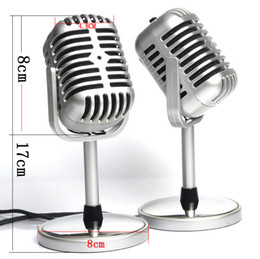 Wholesale Classic Professional Vocal Wired Microphone For Voice Amplifier Speaker Mike With Clear Sound in Silver Color