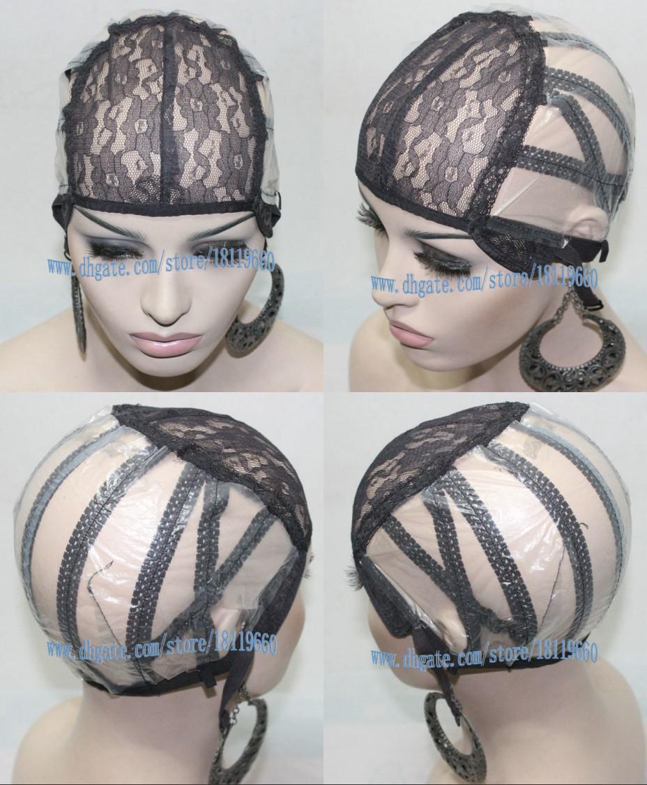 Black Machine Made Wig Cap Inside Inner Caps Hair Weft Making Cap