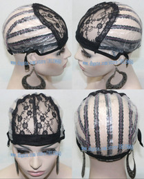 Wholesale Weave Suppliers - Black Color Lace Cap inside inner Net base Hair Weft making cap, weaving caps weave Net Supplier Size Medium Lace Cap Stock Free shipping!