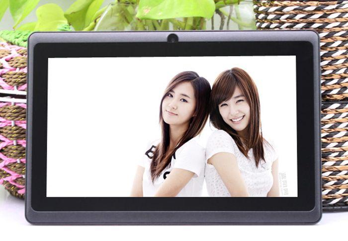 Q8 7 inch tablet PC A33 Quad Core Allwinner Android 4.4 KitKat Capacitive 1.5GHz 512MB RAM 4GB ROM WIFI Dual Camera Flashlight Q88 MQ50
