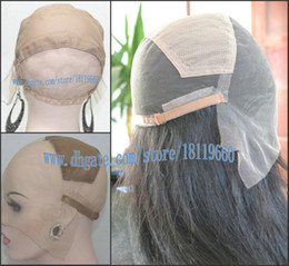 Wholesale Wig Supplies Free Shipping - (Wig Cap Only), French Lace Full lace wig cap Top stretchy with adjustable straps High quality Supply medium size free shipping