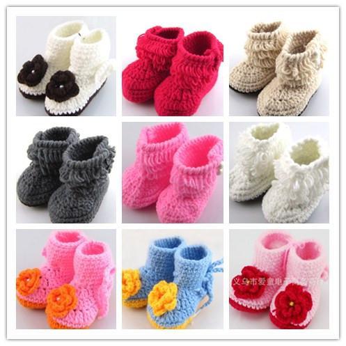 Großhandel Crochet Handgemachte Knit Babyschuhe Multi Muster Baby ...