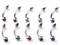 Wholesale Navel Rings Body Piercing - Free Shipping 60pcs 18G Eyebrow Navel Piercing Hot Sale Belly ring Jewelry Body piercing jewelry[BB29*60]