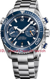 Wholesale planet box - LUXURY BRAND NEW IN BOX SEA PLANET OCEAN DIVER CO-AXIAL STAINLESS STEEL MENS AUTOMATIC DATE WATCH BLUE DIAL MEN'S MOVEMENT WRIST WATCHES