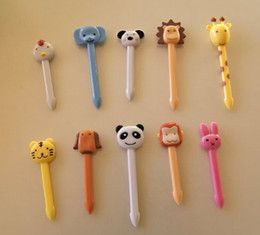 Wholesale Boxes For Cupcakes - hot 20pcs lot SO Cute Colorful 3D Cute Animal Food Cupcake Picks for Japanese Bento Lunch Box - Forest Friends CHILDREN's LOVE