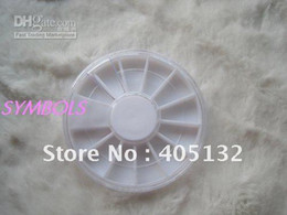Wholesale Empty Wheels - Wholesale - free shipping 100pcs lot 6cm*0.8cm Plastic 12 spaces Empty Round Wheel Case Rhinestone Wheel