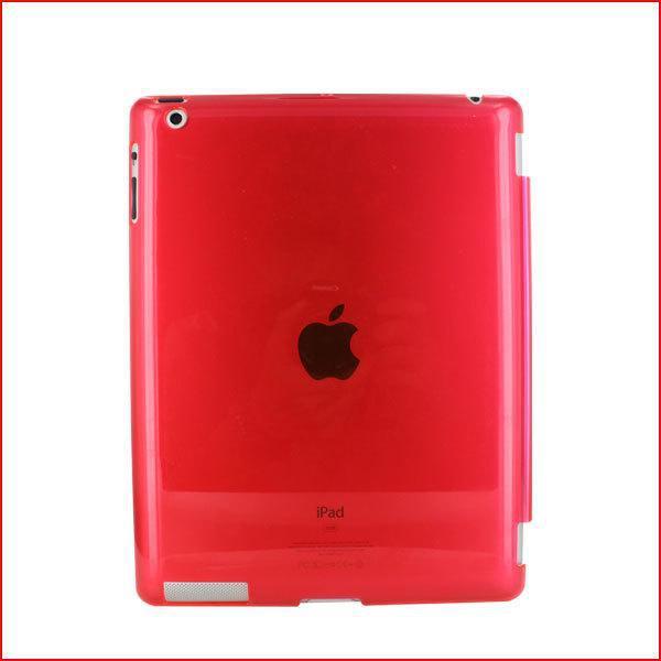 FEDEX DHL Freeshipping 100 Adet / grup Crystle Hard Case Arka Akıllı Kapak Kabuk Kol Ile Çalışmak Için iPad 2 iPad 3 iPad 4 Çok Renkli