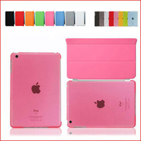 Wholesale Cheap Ipad Smart Cover - iPad air Magnetic Front Smart Cover +Crystal Hard Back Case cheap For Apple iPad air Multi-Color FEDEX DHL Free 20 Pair lot 9colors