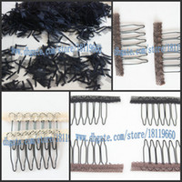 Wholesale Hair Accessories For Wigs - Free ship! wig accessories Wig Cap combs, Hair Combs attach to wig caps(Security your wigs),(Black,beige,brown color elect) for wig making