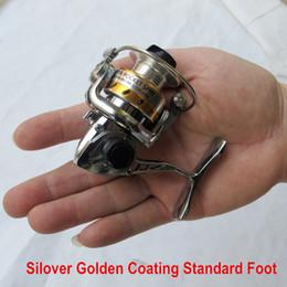 Venta al por mayor de Envío gratis mundo más pequeño Full Metal Mini Ice Lure Pesca Carretes Invierno Spinning Reel