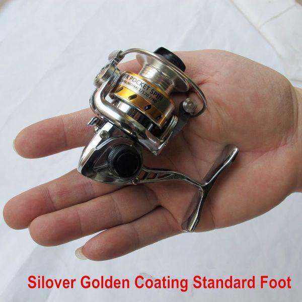 Free Shipping world Smallest Full Metal Mini Ice Lure Fishing Reels Winter Spinning Reel