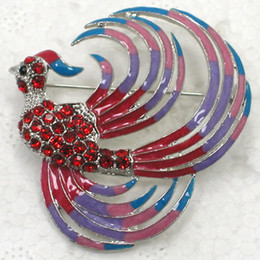 $enCountryForm.capitalKeyWord Canada - Wholesale Crystal Rhinestone Enameling Phoenix Bird Brooches Fashion Costume Pin Brooch jewelry gift C538