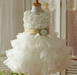 Wholesale Princess Ball Gown Dress Cake - new children girls dress summer girls flower dresses girlsdress Flower style stack-up princess skirt Ball Gown dress TUTU Cake skirt Melee