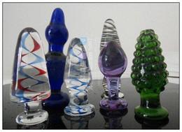 Venta al por mayor - juguetes sexuales anales / 6 pcs consoladores de cristal juguetes anales / consoladores de vidrio / plug anal / butt plug / juguetes sexuales desde fabricantes