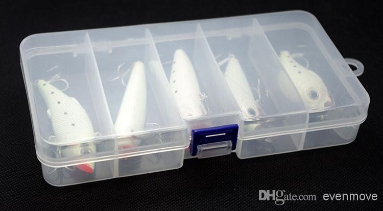 Night Fishing Lures Kit Minnow Crank VIB Popper Pencil Vibration Truly Glow Luminous Bait Artificial Hard Lure Baits With Box