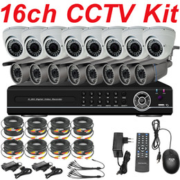 Wholesale Video Camera Installation - Cheap sale best 16ch cctv kit cctv system installation high resolution security surveillance camera 16ch DVR network digital video recorder