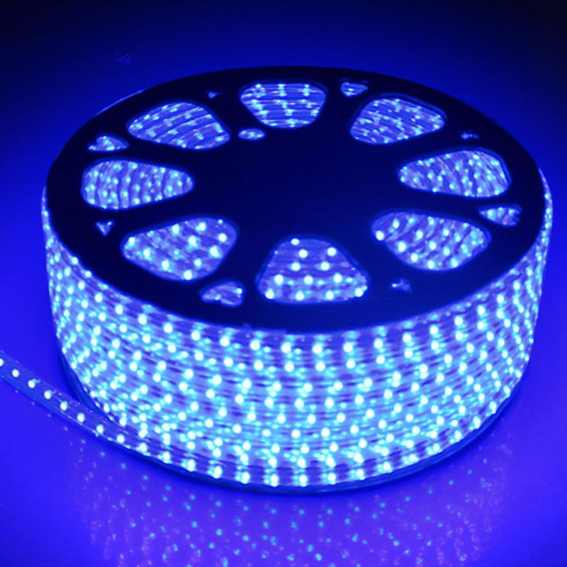 110V 220V AC SMD3528 LED-striplamp met een EU / US Power Plug 60Lights / M, IP67 Waterdichte LED-strip