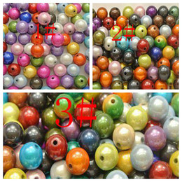 Wholesale 14mm Acrylic Beads - Hot ! Mixed Color 3D Illusion Acrylic Miracle beads 10mm   14mm   12mm Spacer Beads b2732