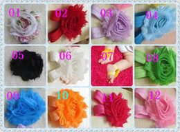 """Discount girls shoes years old - mix 12color baby girls flower sandals 2.5"""" shabby Shabby Flower foot walker shoes Barefoot Sandals 400pcs=200pairs"""