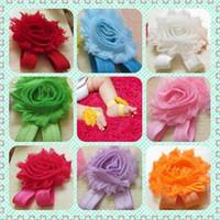 baby shoe ornaments 도매-아름다운 아기 발 장식품! 발 꽃 꽃 샌들 2.5