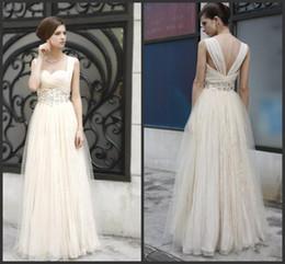 Wholesale Empire Waistline Dress - 2014 Graceful A-Line Floor-Length Sweetheart Empire Waistline Beadings Prom Dresses