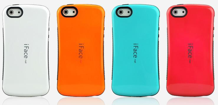 new styles 21a2f 97273 New iface Case Candy Color Back Cover Full Protective For iPhone 5 iphone  4s High Quality without retail packing