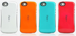 Wholesale Iphone 4s Iface Cover - New iface Case Candy Color Back Cover Full Protective For iPhone 5 iphone 4s High Quality without retail packing