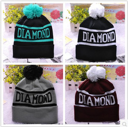 Wholesale Cheap Knitting Wool Wholesale - Diamond Supply co. Beanie Design Skullies Beanie Cheap Classic Snapbacks Hats Cap Winter Street Wear Beanies for men and women knitted hats