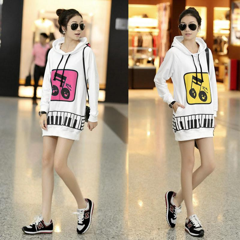 Cute Korean Music Girl White Background Casual Long Thick ...