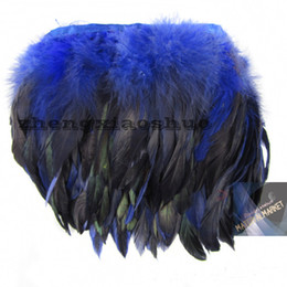 $enCountryForm.capitalKeyWord NZ - Free Shipping 10yards lot royal Blue Rooster feather trimming fringe Rooster feather fringe coque feather trimming
