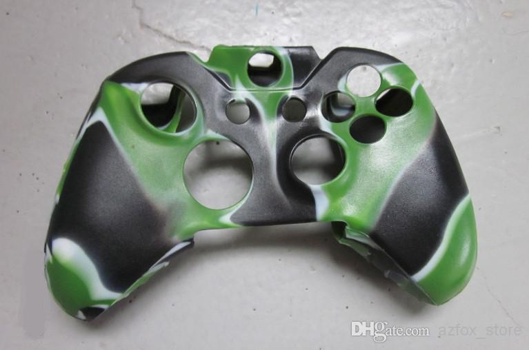 Controller Case Silicon Gummi Camouflage Console Case för Xbox One