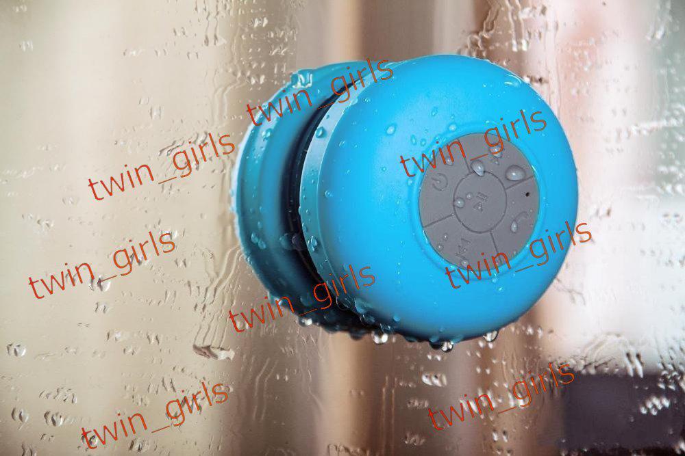 ماء المحمولة اللاسلكية بلوتوث 3.0 البسيطة SpeakerSucker رئيس مع HANDFREE 3W دش HANDFREE سيارة مع مايكروفون لفون 4 4S 5 5S 5C