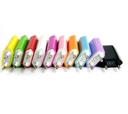 Haute qualité coloré 10 couleurs EU USA USB Mur Accueil Chargeur 1000mA adaptateur USB pour iphone 5s 4s 5c Iphone4 android téléphone portable 1000pcs ? partir de fabricateur