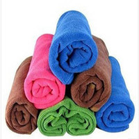 Wholesale Glass Cleaning Towels - Free shipping 30cmx30cm Microfiber Cleaning Towel Microfibre Glass Cleaner Rags Car Polishing Scrubing Detailing Cloth