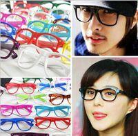 1000pairs lot Retro Color Unisex Punk Geek Style Clear Lens ...