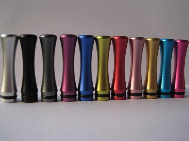 Long Anodized Aluminum 510 Drip 팁 DCT 510 Vivi Nova를위한 풍부한 색상의 재료