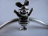 Wholesale Pets Oval - 925 silver beads for pandora bracelet fit gift pet piglet animal charm beads new free shipping