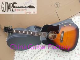 Wholesale Hollow Body Electric Guitar Sunburst - 2018 New Arrival + Free Shipping + Factory + New John Lennon J160 Acoustic Electric Guitar - Vintage Sunburst finish J160e VS made in China